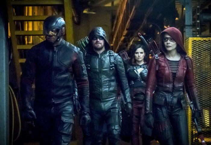 Imagen de Arrow 6×16, The Thanatos Guild, Nyssa Al Ghul y el Team Arrow