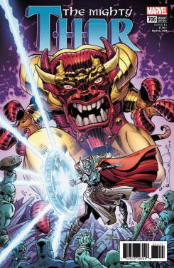 Portada alternativa del cómic Mighty Thor #706, por Walter Simonson