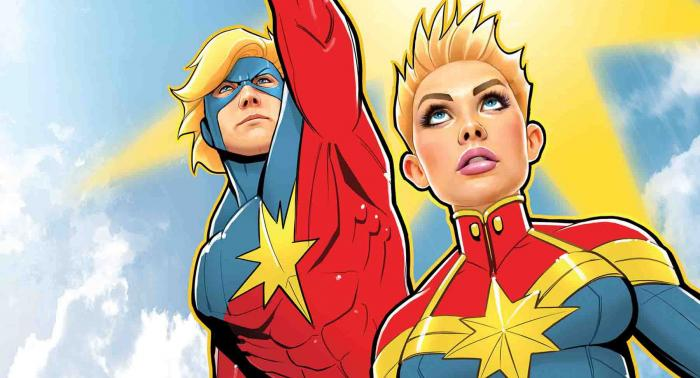 Imagen de Mar-Vell/Captain Marvel y Carol Danver/Captain Marvel en los cómics