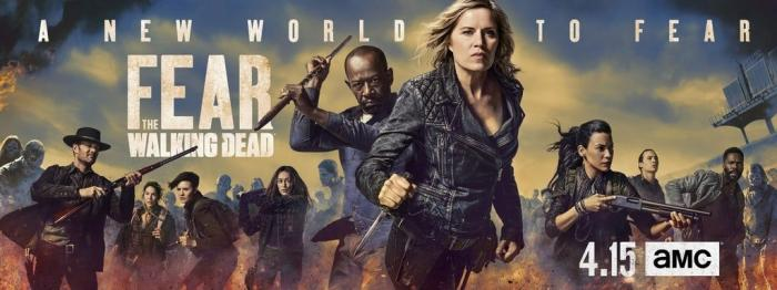Key art promocional de la cuarta temporada de Fear The Walking Dead