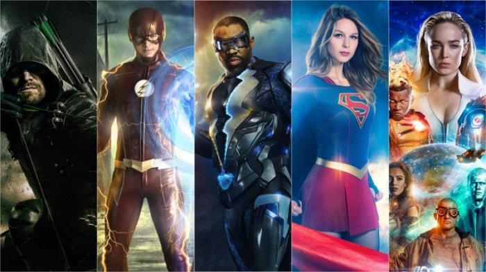 La series de DC en la cadena The CW: Arrow, The Flash, Black Lightning, Legends of Tomorrow y Supergirl