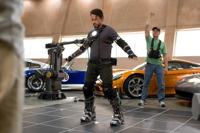 Imagen oficial detrás de las cámaras de Iron Man (2008)