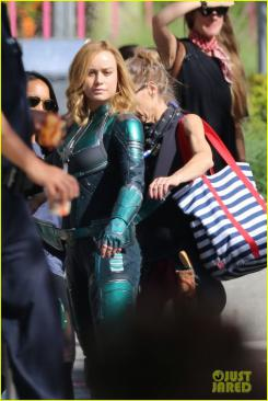 Brie Larson en el set de Captain Marvel (2019)