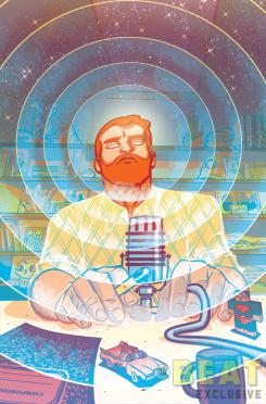 Portada de Cave Carson has an Interstellar Eye #6, por Michael Avon Oeming