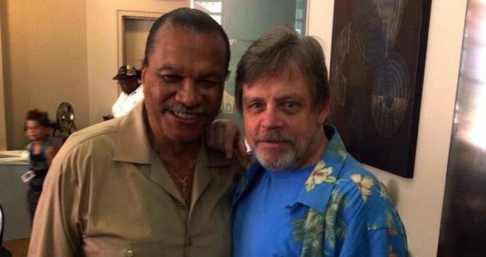 Actores Billy Dee Williams y Mark Hamill