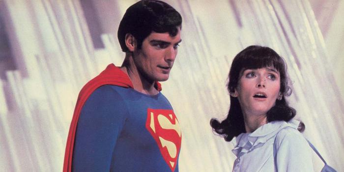 Imagen de Christopher Reeve como Superman y Margot Kidder como Lois Lane