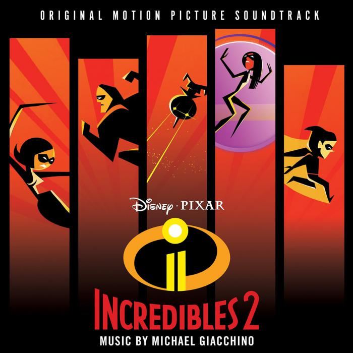 Carátula de la banda sonora de The Incredibles 2 (2018)