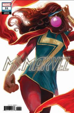 Portada de Ms. Marvel #31, por Stephanie Hans