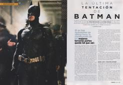 Scan de la revista  Cinenamía (Julio 2012), sobre The Dark Knight Rises (2012)