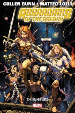 Arte promocional de Asgardians of the Galaxy