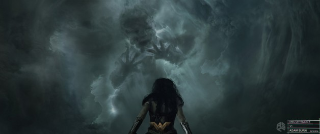 Arte conceptual de Wonder Woman (2017), Ares vs Wonder Woman por Adam Burn