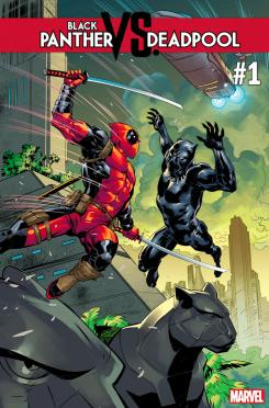 Portada de Black Panther vs. Deadpool #1