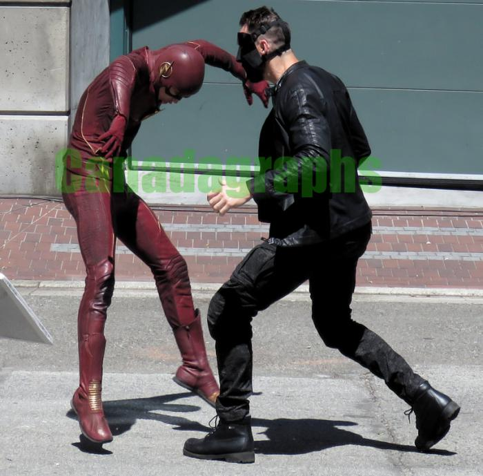 Imagen del set de la quinta temporada de The Flash (2014 - ?)