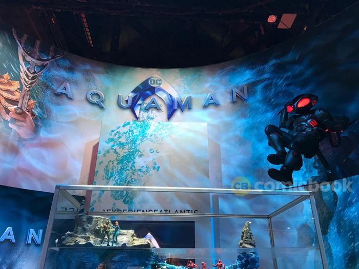 Display de Aquaman (2018) en la San Diego Comic Con