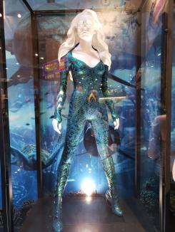 Traje de Mera en Aquaman (2018) expuesta en la San Diego Comic Con 2018