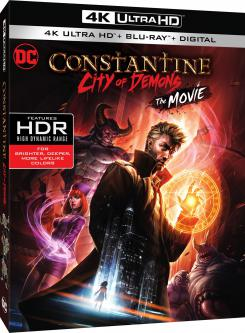Carátula de la versión Ultra HD Blu-Ray de Constantine: City of Demons (2018)