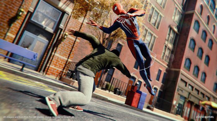 Imagen del juego de PS4 Spider-Man (2018)