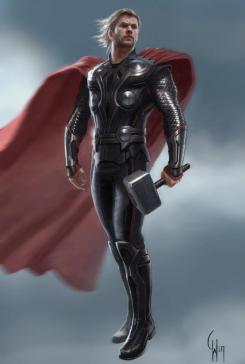 Concept art de The Avengers / Los Vengadores (2012), obra de Charlie Wen