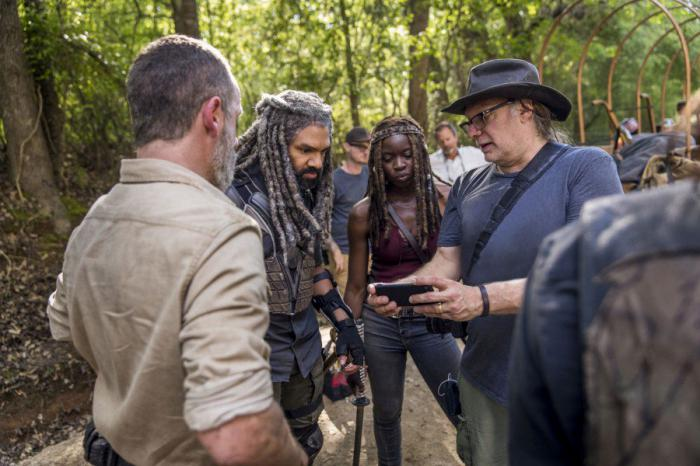 Imagen del set de la novena temporada de The Walking Dead
