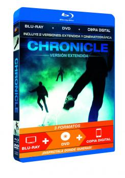 Carátula de la edición Blu-ray + DVD + Copia digital de Chronicle (2011)