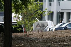 Imagen del set de Iron Man 3 (2013) en Cary, Carolina del Norte
