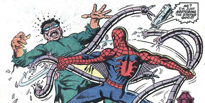 Primer enfrentamiento Spider-Man y Doctor Octopus