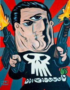 Punisher al estilo Pablo Picasso, por Wonder Bros