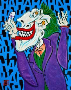 Joker al estilo Pablo Picasso, por Wonder Bros