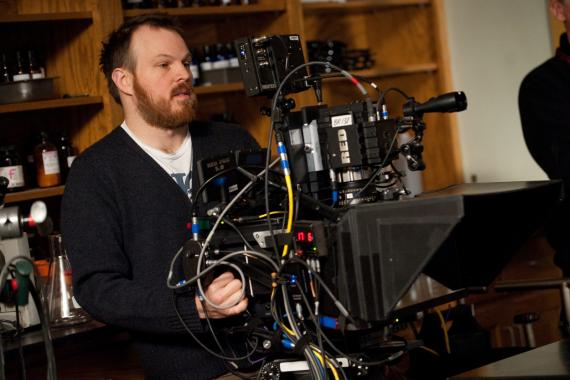 Imagen de Marc Webb en el set de The Amazing Spider-Man (2012)