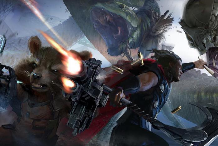 Concept art de Vengadores: Infinity War (2018), por Rodney Fuentebella