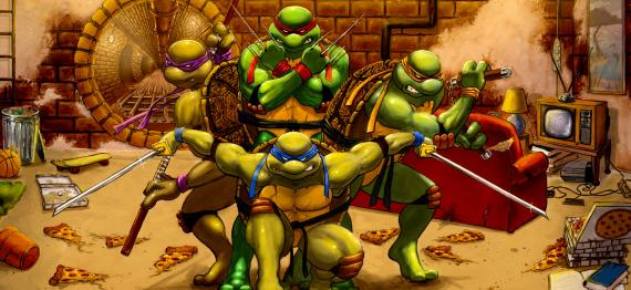 Fan-art de Teenage Mutant Ninja Turtles