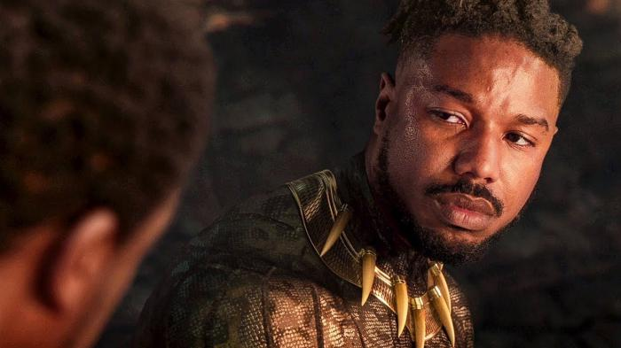 Imagen de Killmonger al final de Black Panther (2018)