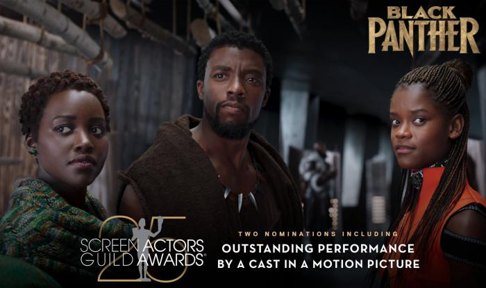 Black Panther gran vencedora en los Screen Actor Guild Awards