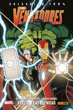 Portada de 100% Marvel. Los Vengadores: Vuelta a las esencias.