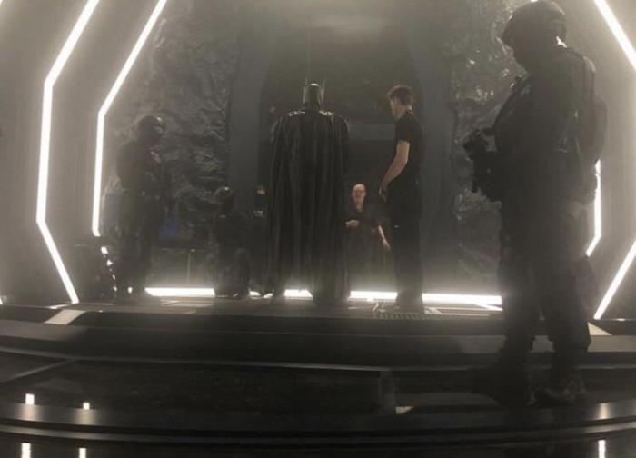 Imagen detrás de las cámaras de Batman en el episodio final de la primera temporada
