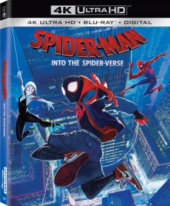 Portada de la edición 4k Ultra HD de Spider-Man: Into the Spider-Verse