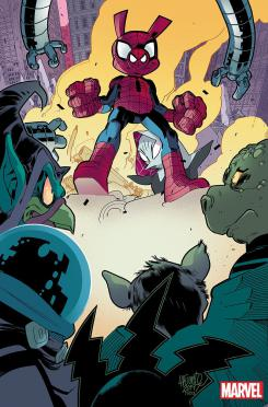 Spider-Ham en Amazing Spider-Man Annual #1, arte por David LaFuente