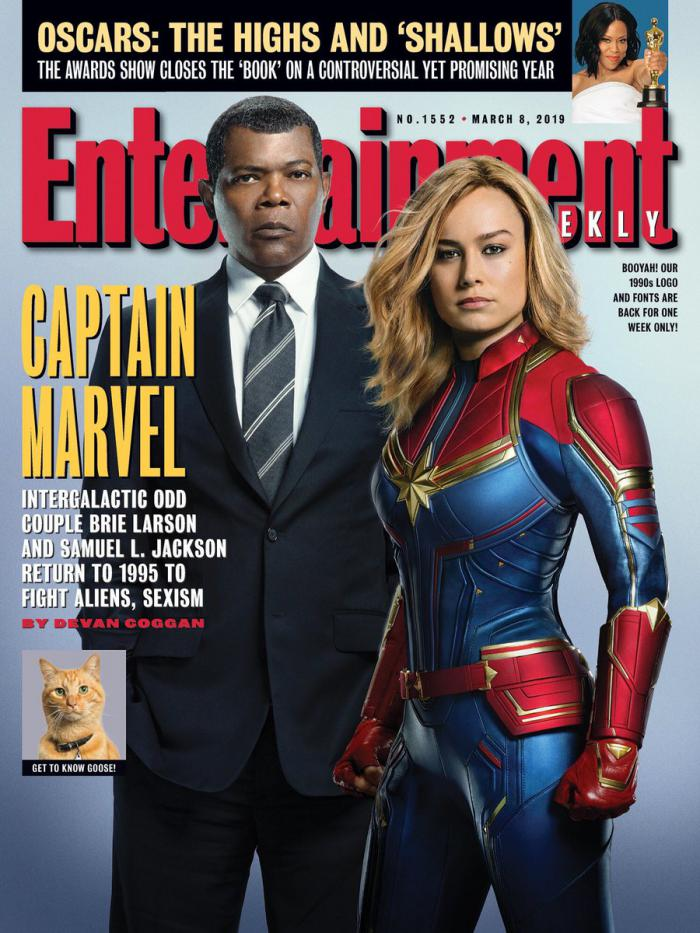 Portada de la revista Entertainment Weekly dedicada a Capitana Marvel