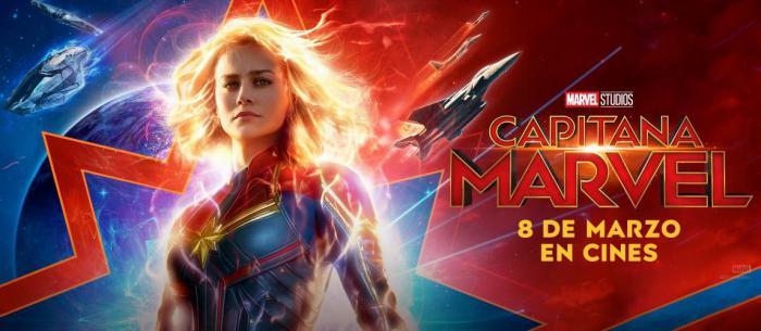 Banner para España de Capitana Marvel (2019)