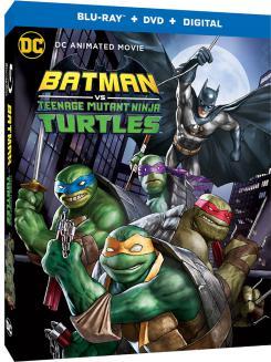 Carátula de la edición Blu-Ray + DVD + Digital de UltraHD de Batman vs. Teenage Mutant Ninja Turtles (2019)
