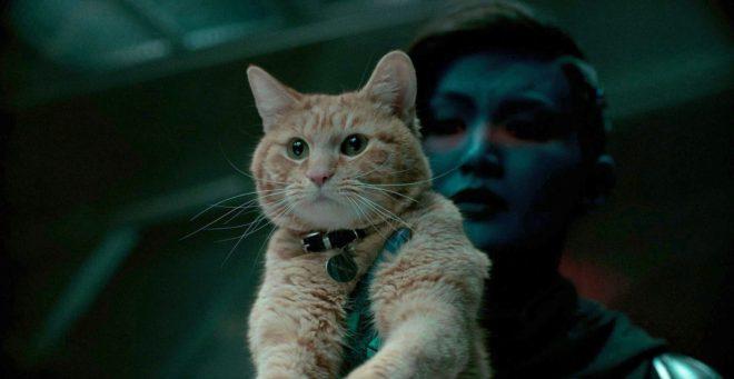 Imagen de Capitana Marvel (2019), previa a efectos...