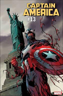 Portada alternativa inspirada en Absolute Carnage de Captain America #13 por Butch Guice