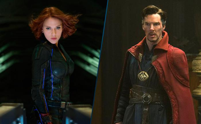 Montaje de Black Widow y Doctor Strange