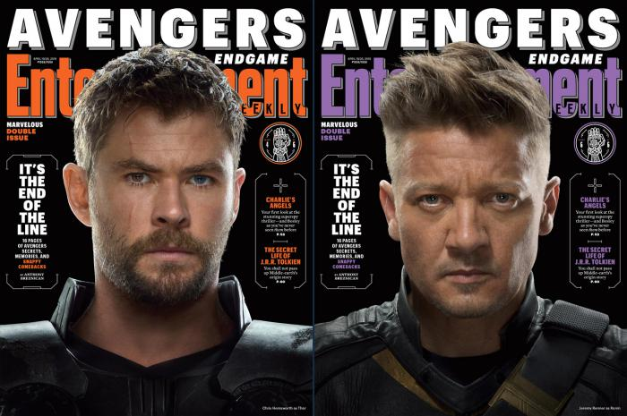 Portadas de Entertainment Weekly dedicadas a Vengadores: Endgame (2019)