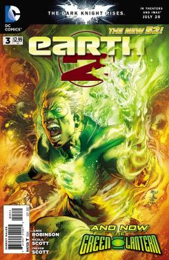 Portada del cómic Earth 2 #3 (julio 2012)