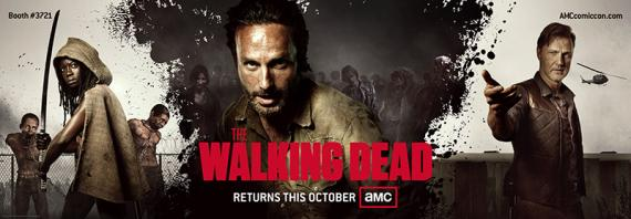 Banner promocional de la tercera temporada de The Walking Dead