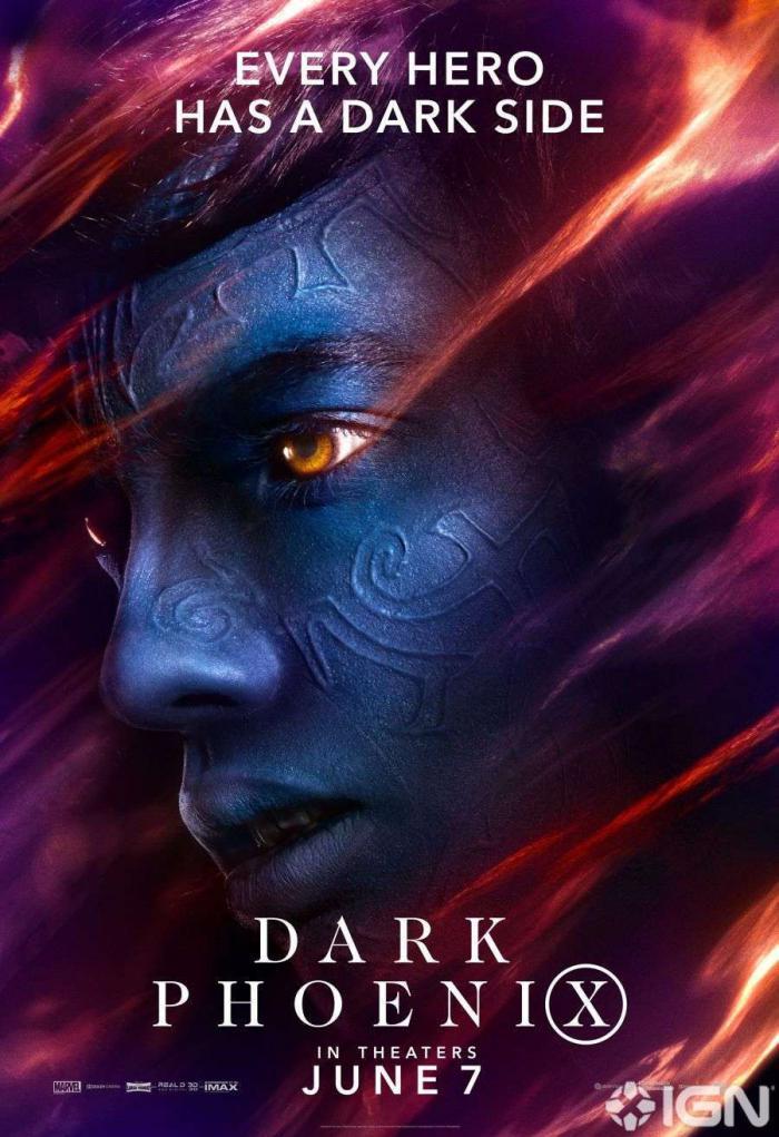 Póster de Rondador Nocturno en X-Men: Fénix Oscura (2019)
