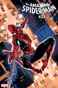Portada alternativa de The Amazing Spider-Man #23, por Stuart Immonen dedicada a Spider-Man