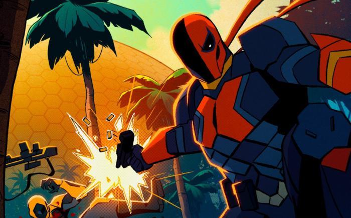Arte promocional de Deathstroke, serie animada de CW Seed