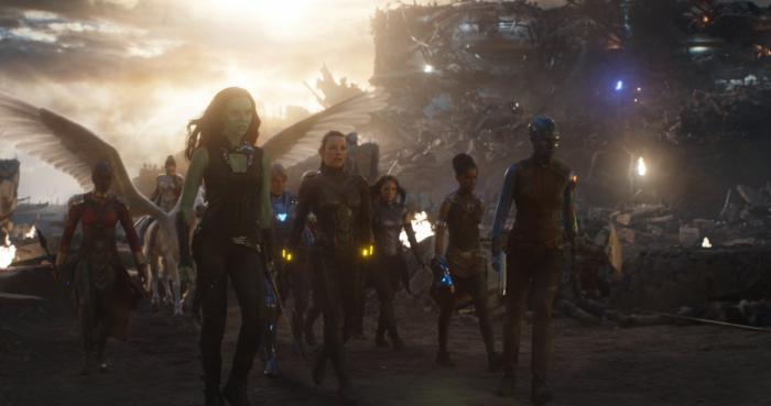 Imagen de las superheroínas A-Force en Vengadores: Endgame (2019)